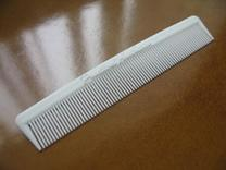 Pocket Comb, 5 inch, Fine Tooth in White Strong & Flexible
