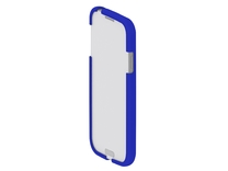 DD - Samsung Galaxy S4 - Text in Blue Strong & Flexible Polished