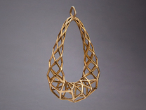 Pendant 003 in Raw Bronze