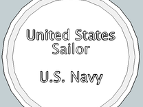 U.S. Sailor Pendant in Polished Gold Steel