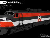 NEP502 N scale EP-5 loco - as built + guides in Frosted Ultra Detail