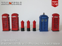 Street furniture SET (British N 1:148) in Frosted Ultra Detail