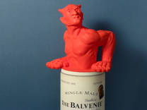 Larger Scotch Devil  in Red Strong & Flexible Polished