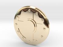 Warrior Shield Earring 10mm in 14K Gold