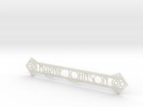 Doorplate in Transparent Acrylic