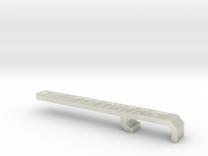 Miata Turbo Keychain - Design B - Sunken in Transparent Acrylic