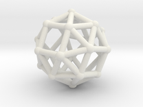 Snub cube (chiral) in White Strong & Flexible