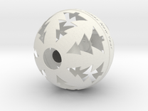Christmas Ball with Hanging Snowman in White Strong & Flexible