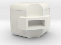 Rubik's Edge Piece in White Strong & Flexible