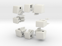 Void Floppy Cube V2 (3x3x1) in White Strong & Flexible