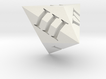 Triakis dice (Roman) in White Strong & Flexible