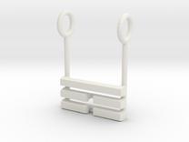 I Ching Trigram Pendant - Ken Lower in White Strong & Flexible