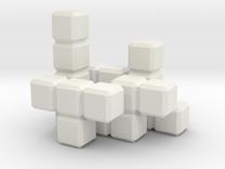 Tetris Blocks in White Strong & Flexible
