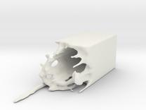 Splash Vase or Splash Candlestick in White Strong & Flexible