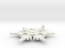 Snowflake Pendant Geni in White Strong & Flexible