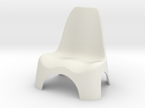 Garden Chair 1/10 in White Strong & Flexible