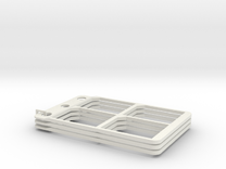 SD cardholder (component), pack of three in White Strong & Flexible