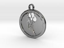 Rainbow dash mlp cutie mark pendant in Polished Silver