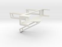 Angled Desk Phone Holder in White Strong & Flexible