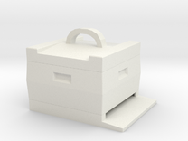 beehive keychain Bienenkasten Schlüsselanhänger in White Strong & Flexible
