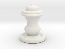 Chess Piece-King in White Strong & Flexible