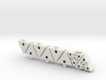 Grimace Cube Shapeways in White Strong & Flexible