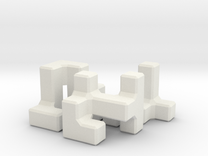 Easy Microcube in White Strong & Flexible