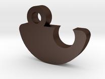 Keychain for a family - Children Part in Matte Bronze Steel