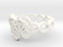 Trinity Celtic Knot Ring in White Strong & Flexible Polished
