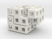 Cube Puzzle in White Strong & Flexible