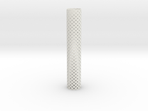 Square Perforated Tubing 16 cm in White Strong & Flexible