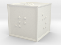 Braille D6 in White Strong & Flexible