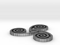 "Celtic Triple Spiral (1.5"") in Polished Silver"