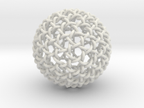 Geodesic Dome Weave Knot in White Strong & Flexible