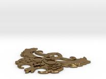 Staff Head Earring in Raw Bronze