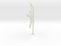 Fairy Thumb Nail Applique Transparent in Transparent Acrylic