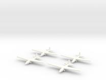 Aeronautica Lombarda AL-12P (x4) 1/700 (Italian) in White Strong & Flexible Polished