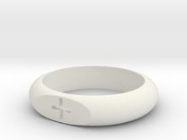 Flat Face Plus Ring (Size 9) in White Strong & Flexible