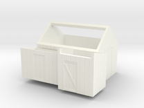 H0 logging - Small Sheds (3pcs) in White Strong & Flexible Polished