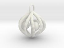 ballcagecharm in White Strong & Flexible