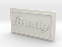 Brody Name patched in White Strong & Flexible