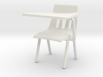 1:24 Scale - Classroom Chair in White Strong & Flexible