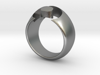 S-ring in Raw Silver