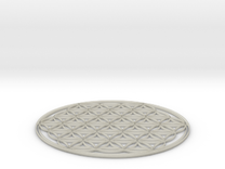 Flower of life table mat 180x3mm 7x0.1inch in Transparent Acrylic