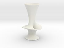 "Costa Vase - 7"" in White Strong & Flexible"