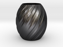 Vase Seven in Polished Grey Steel