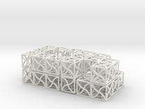 Twirl cubed puzzle (all parts)  in White Strong & Flexible