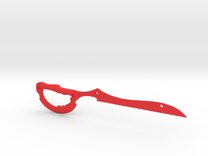 Mirrored Scissor Blade in Red Strong & Flexible Polished