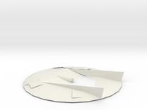 Flying Disc Model in White Strong & Flexible