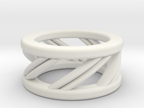 Helix Ring in White Strong & Flexible